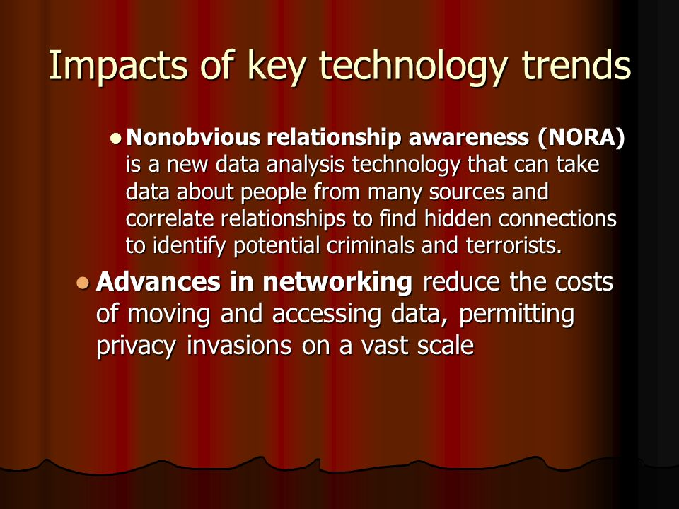 Impacts of key technology trends