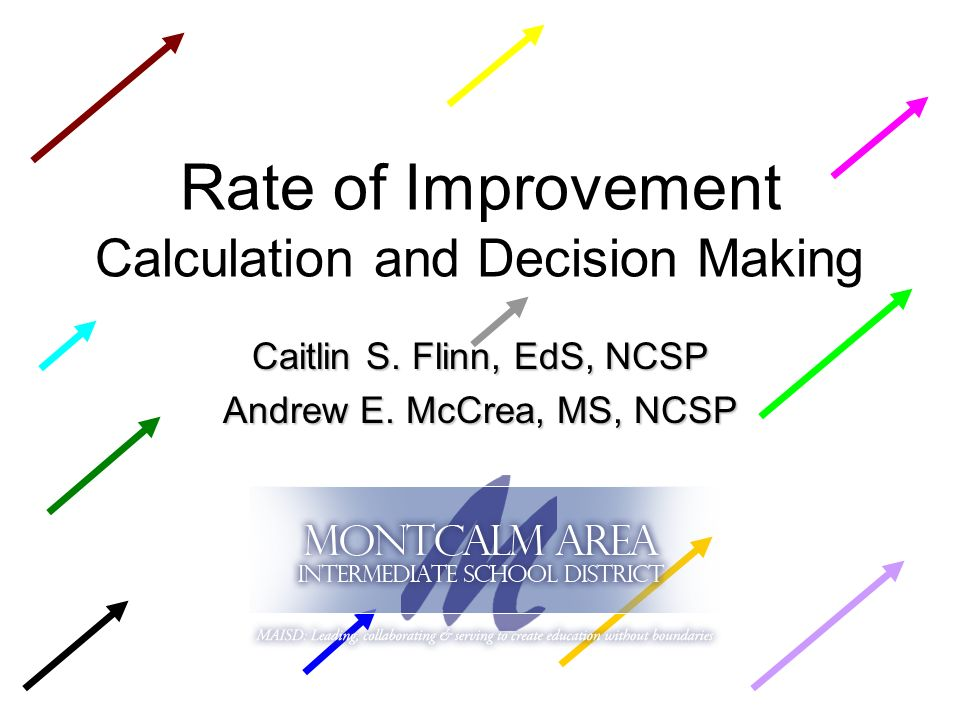 Rate of Improvement Calculation and Decision Making