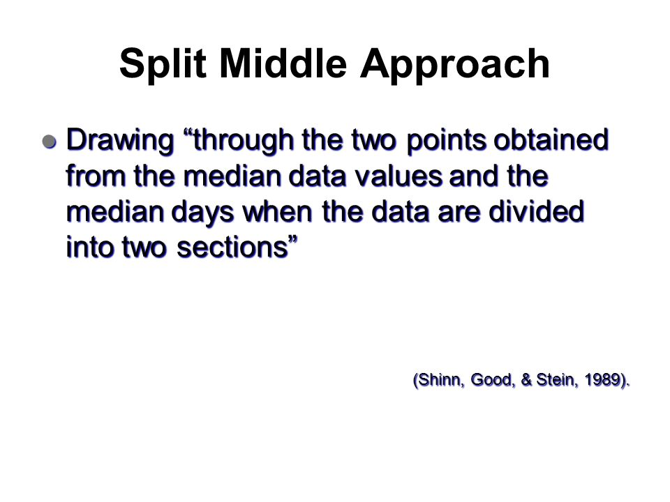 Split Middle Approach
