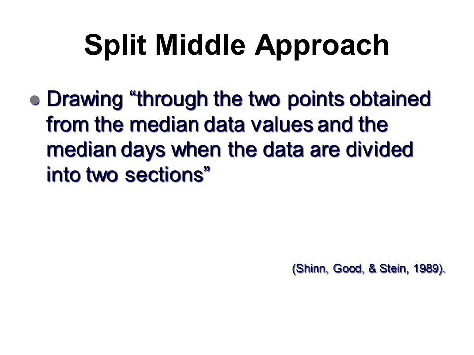 Split Middle Approach