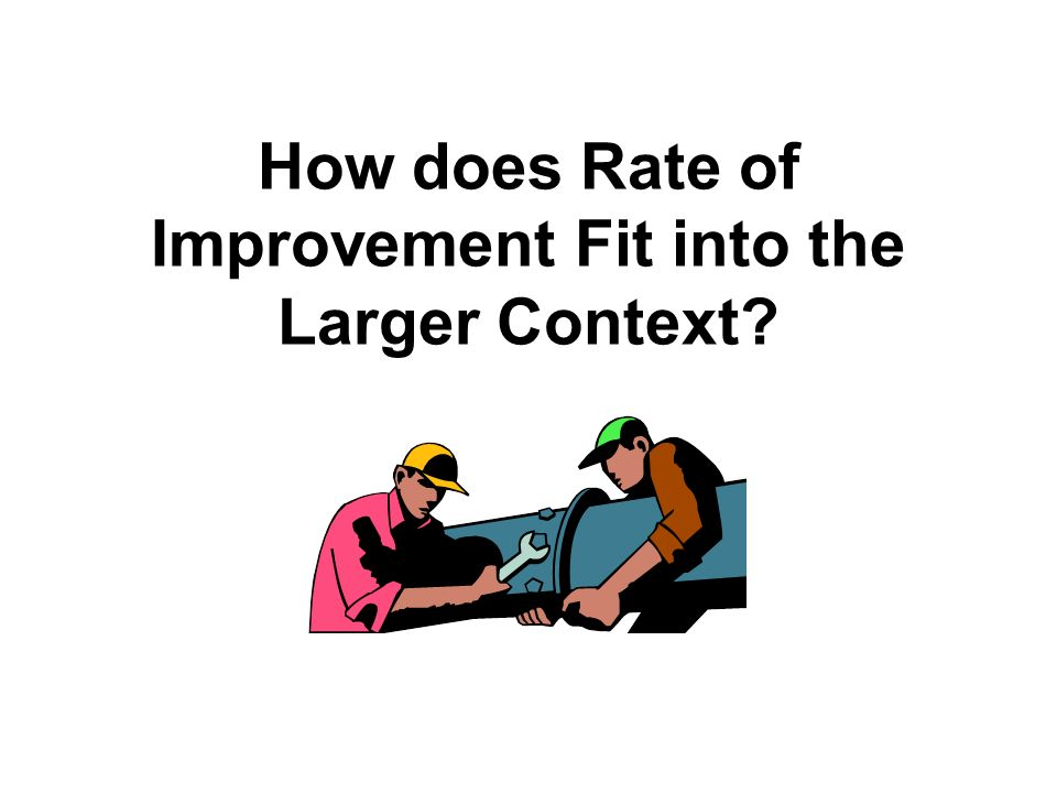 How does Rate of Improvement Fit into the Larger Context