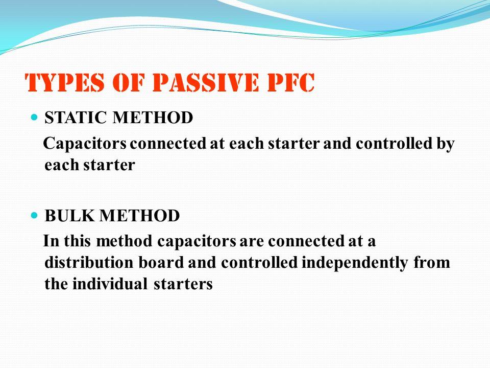 TYPES OF PASSIVE PFC STATIC METHOD