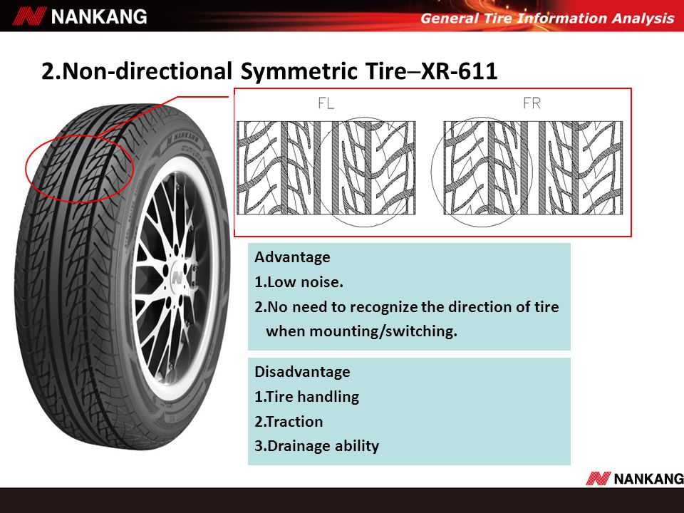 2.Non-directional Symmetric Tire─XR-611