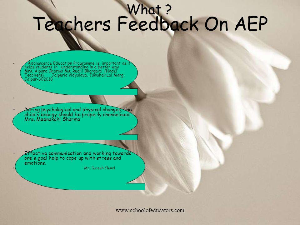 Teachers Feedback On AEP