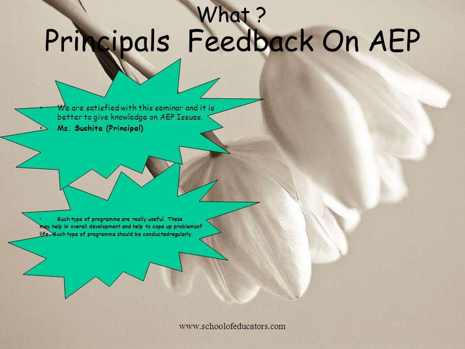 Principals Feedback On AEP