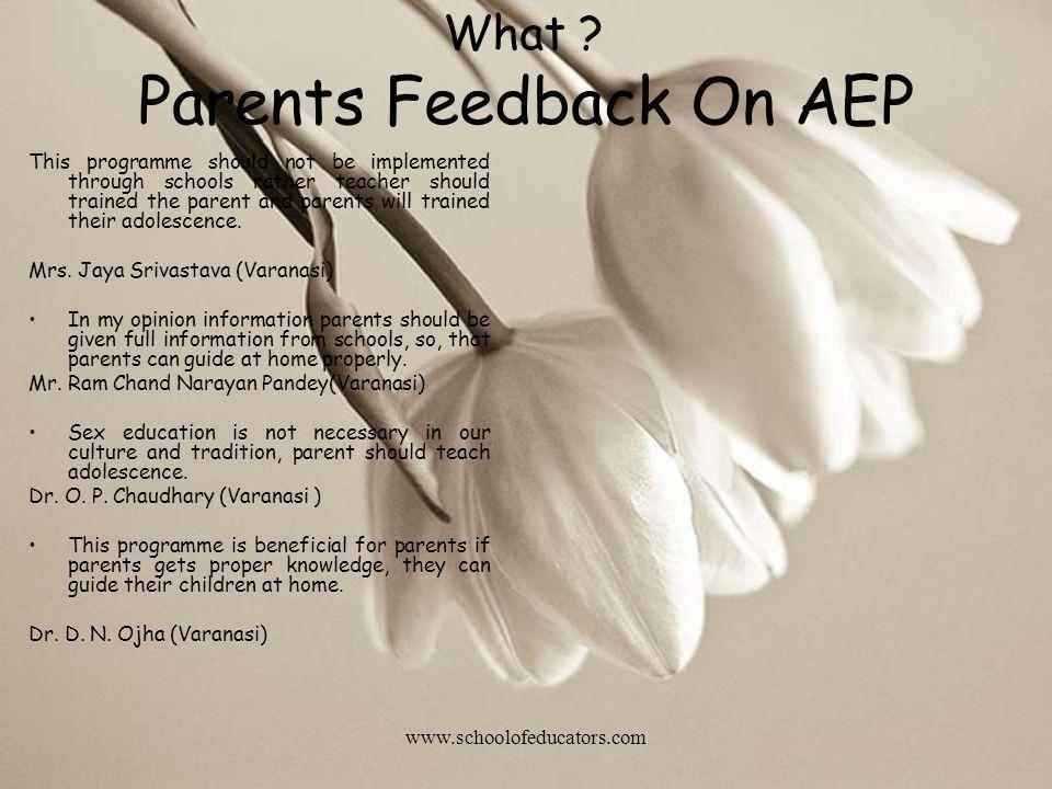 Parents Feedback On AEP