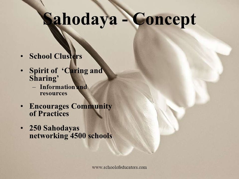 Sahodaya - Concept School Clusters Spirit of 'Caring and Sharing'