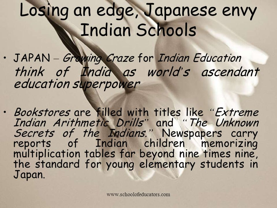 Losing an edge, Japanese envy Indian Schools