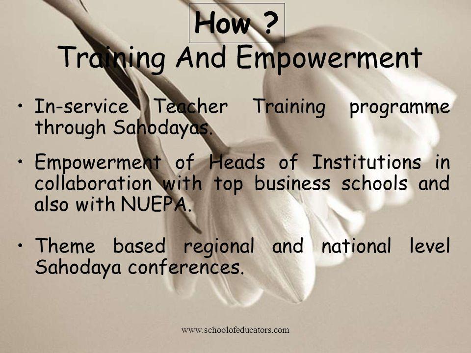 Training And Empowerment