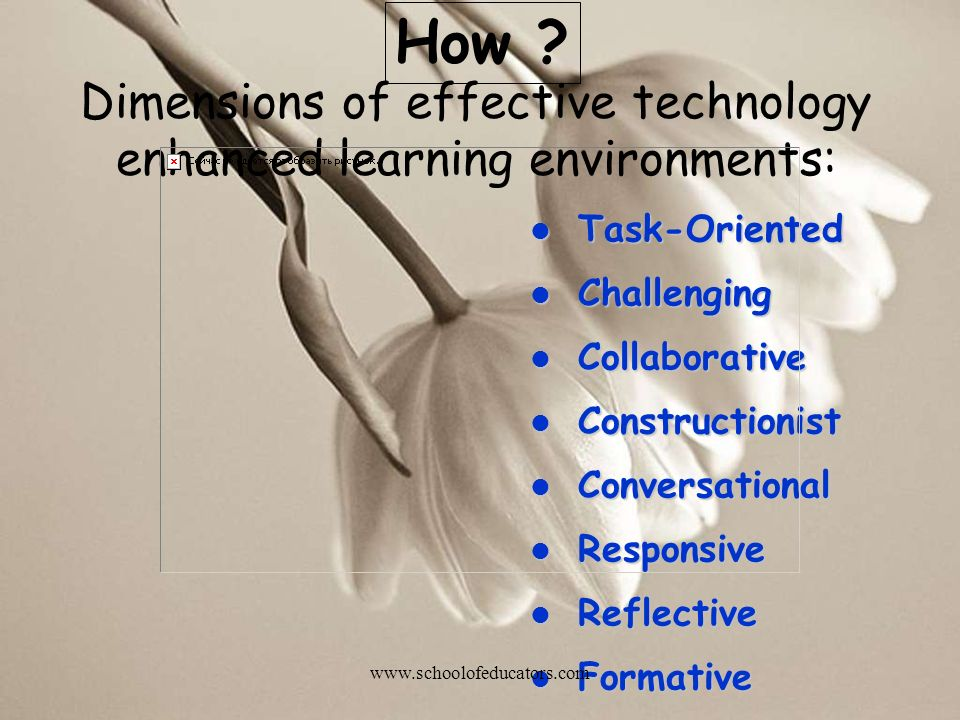 Dimensions of effective technology enhanced learning environments: