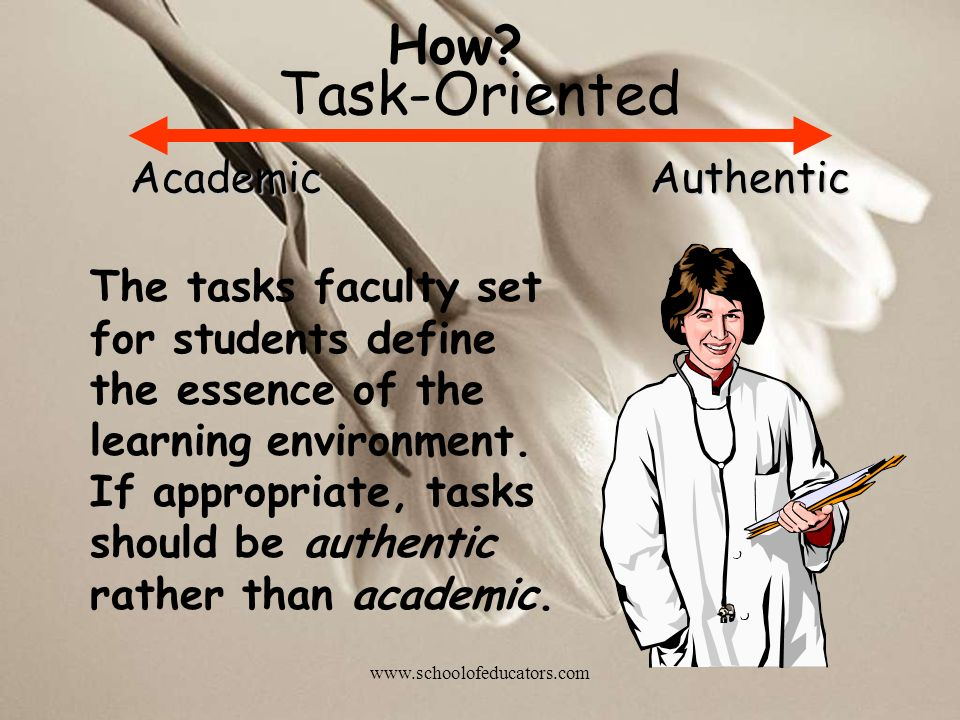 Task-Oriented How Academic Authentic