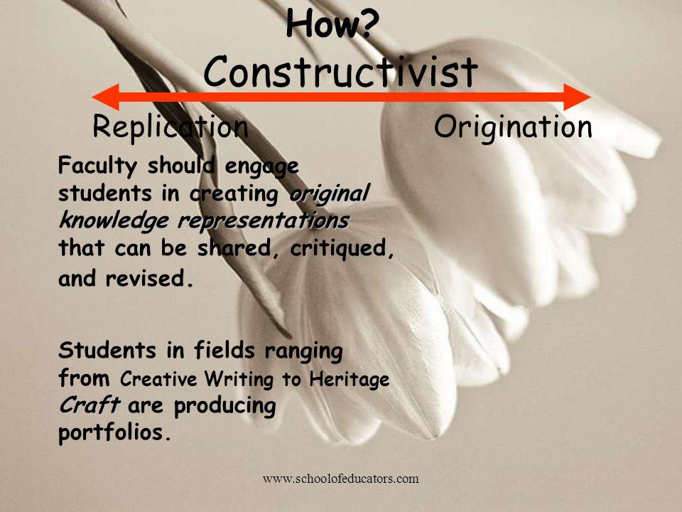 Constructivist How Replication Origination