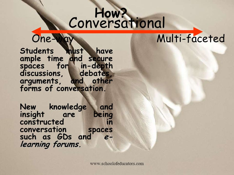 Conversational How One-way Multi-faceted