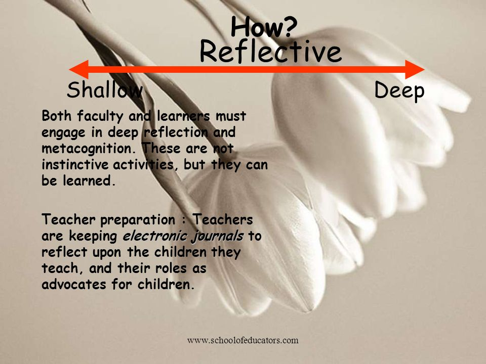 Reflective How Shallow Deep