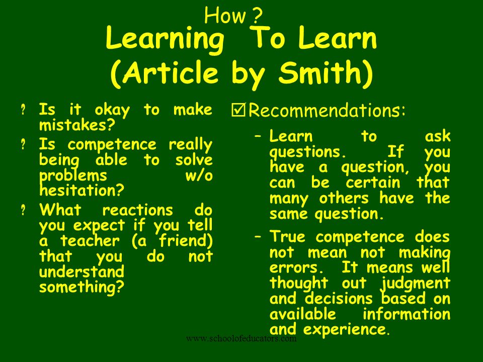 Learning To Learn (Article by Smith)