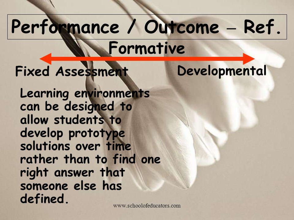 Performance / Outcome – Ref.