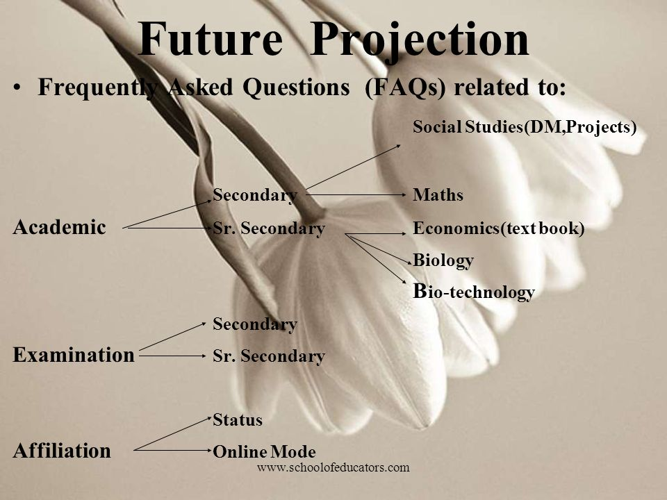 Future Projection Frequently Asked Questions (FAQs) related to: