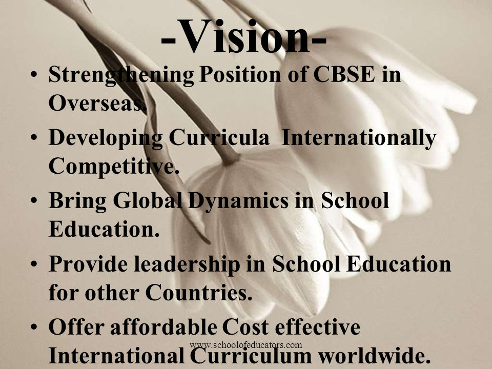 -Vision- Strengthening Position of CBSE in Overseas.