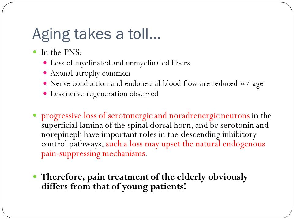 Aging takes a toll… In the PNS: