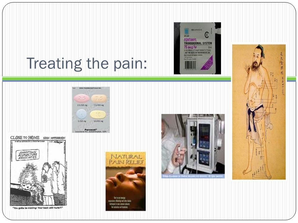 Treating the pain: