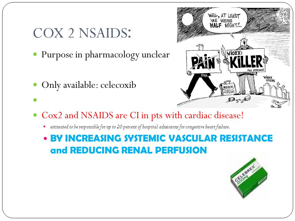 COX 2 NSAIDS: Purpose in pharmacology unclear
