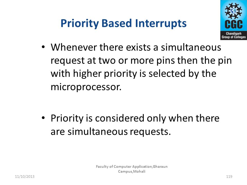 Priority Based Interrupts