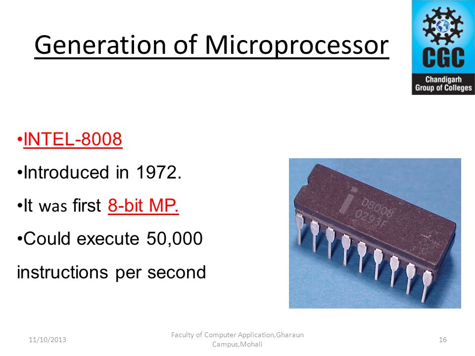Generation of Microprocessor