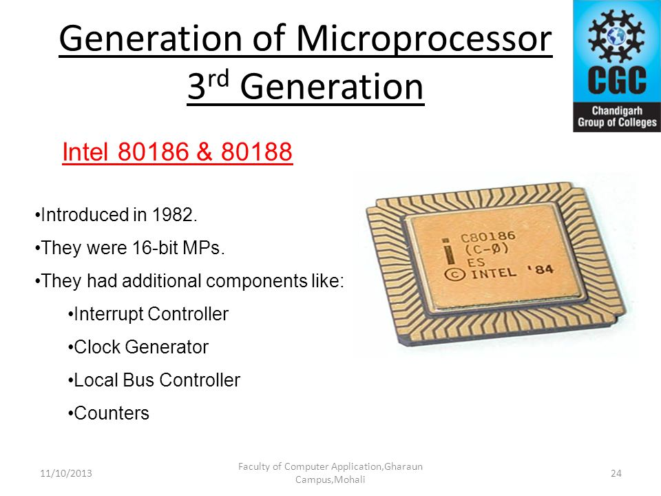 Generation of Microprocessor 3rd Generation
