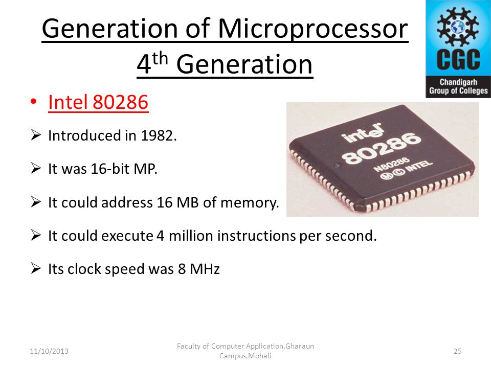 Generation of Microprocessor 4th Generation