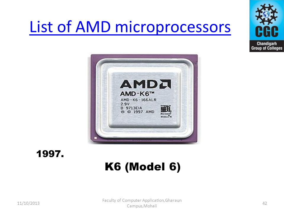 List of AMD microprocessors