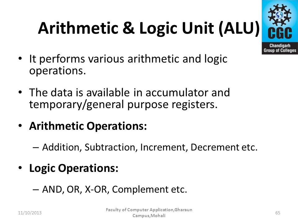Arithmetic & Logic Unit (ALU)