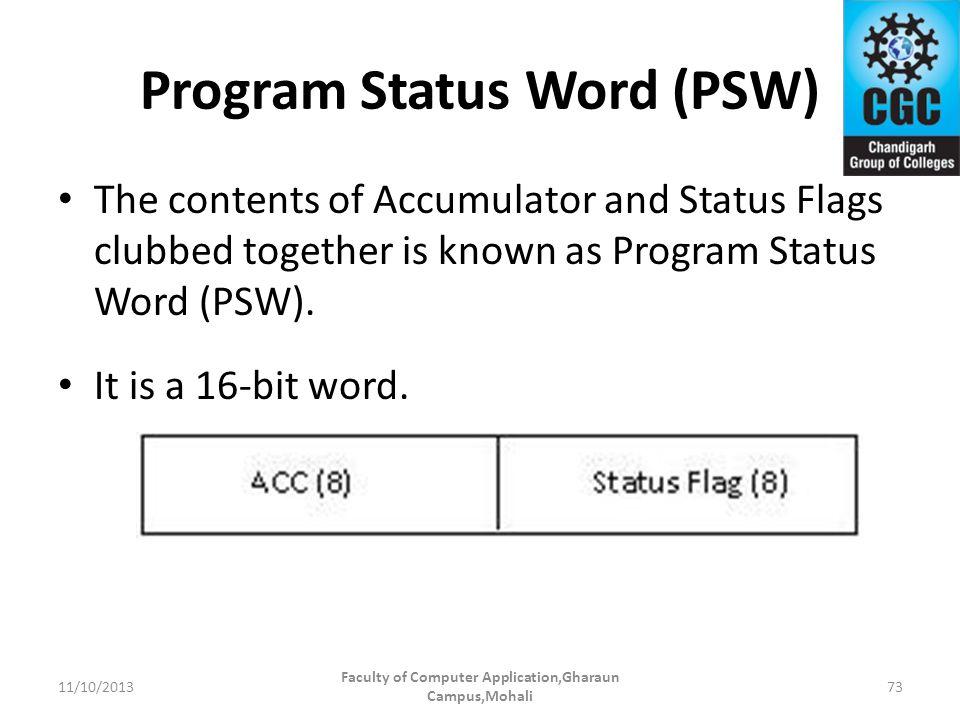 Program Status Word (PSW)