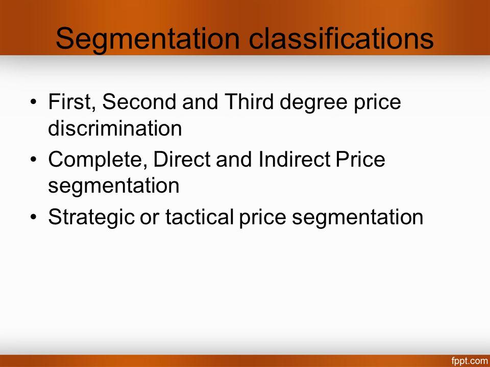 Segmentation classifications