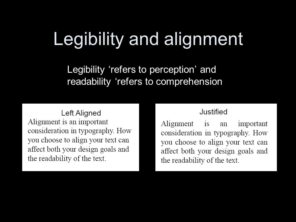 Legibility and alignment