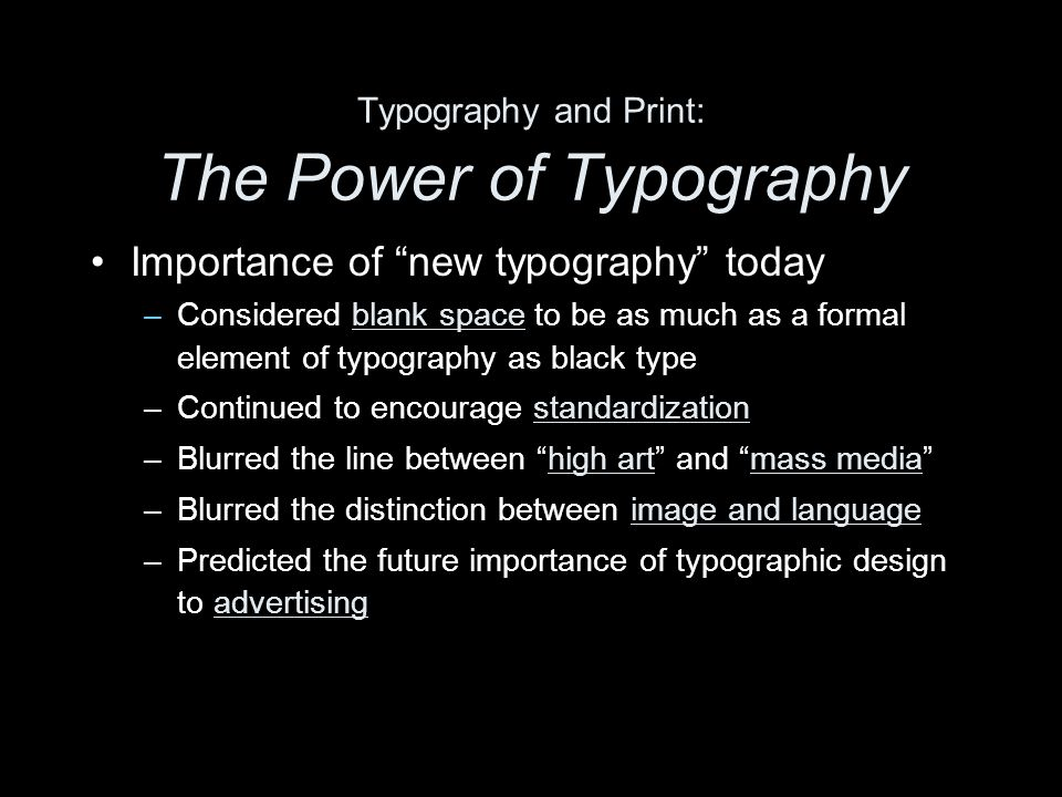 Typography and Print: The Power of Typography