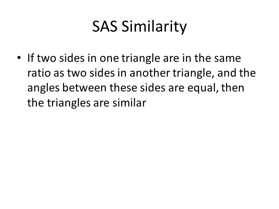 SAS Similarity