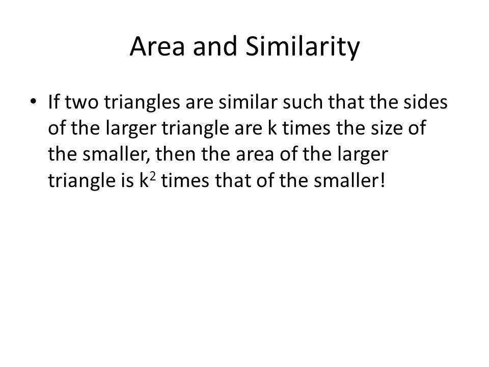 Area and Similarity