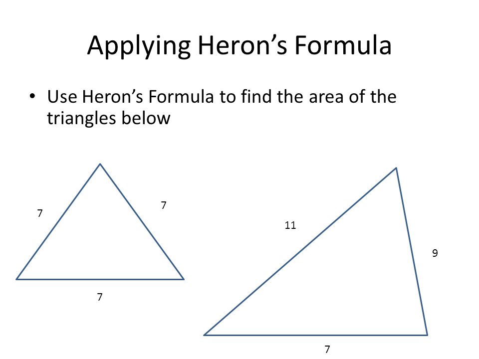 Applying Heron's Formula