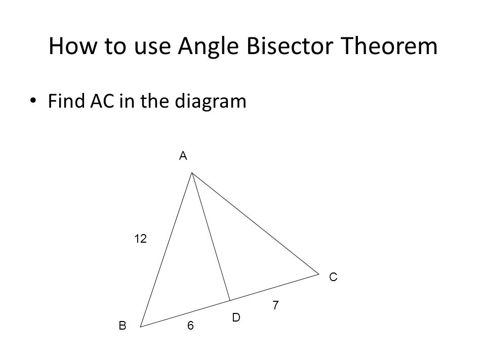 How to use Angle Bisector Theorem