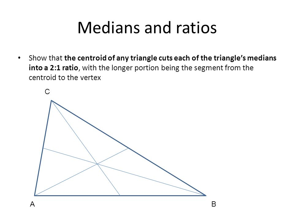 Medians and ratios