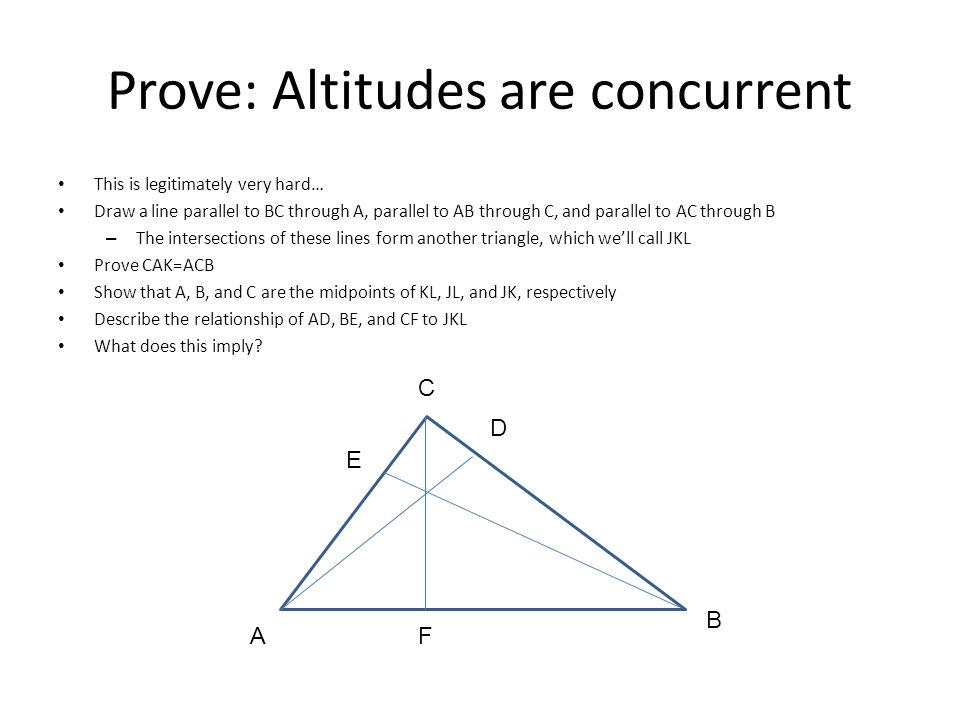 Prove: Altitudes are concurrent