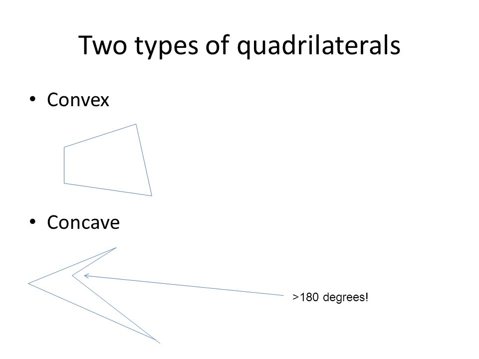 Two types of quadrilaterals