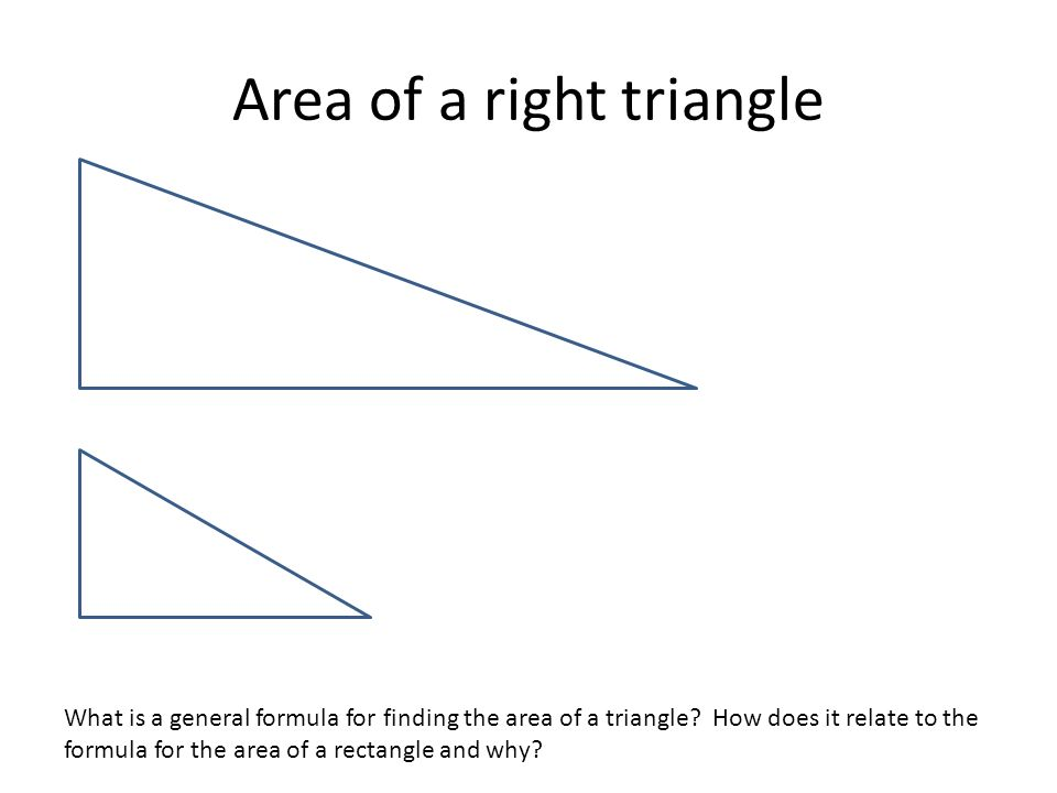 Area of a right triangle