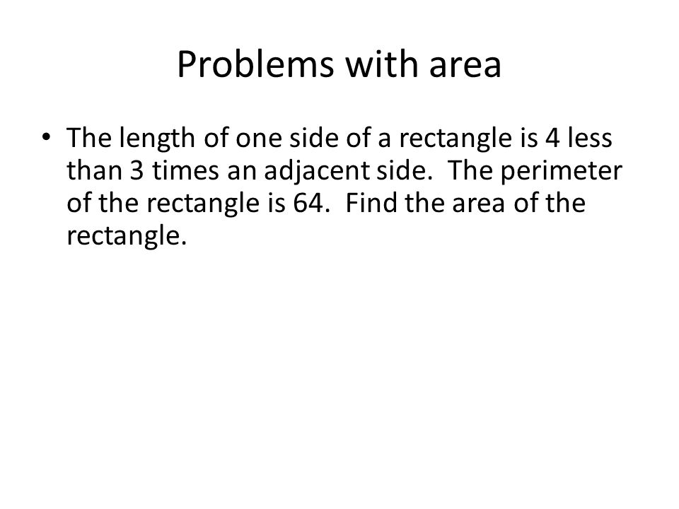 Problems with area