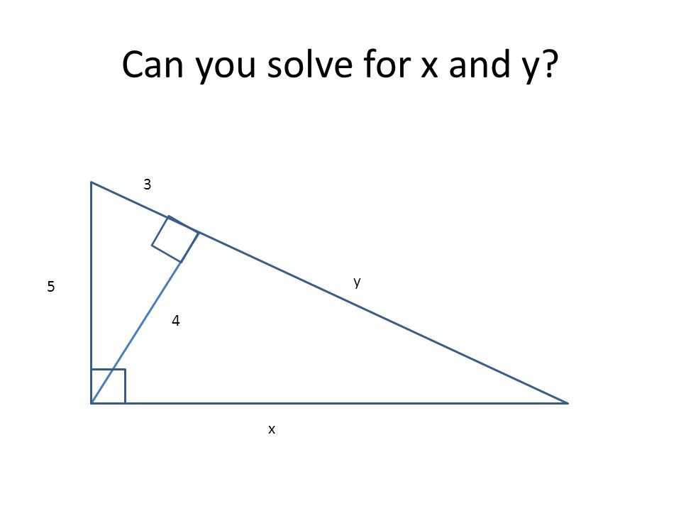 Can you solve for x and y 3 y 5 4 x