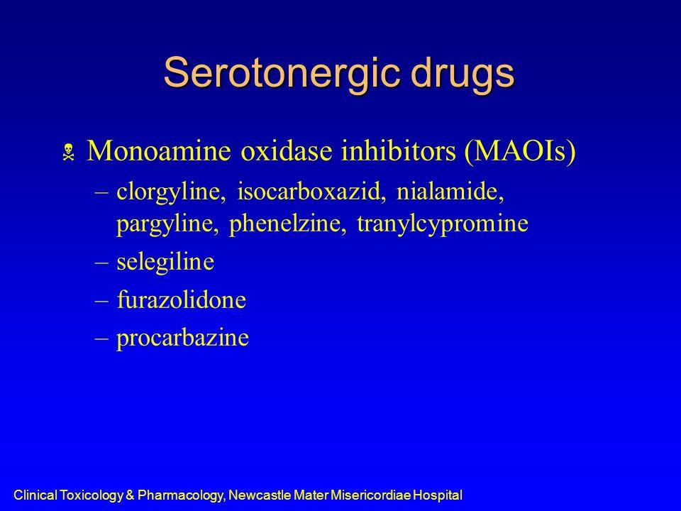 Serotonergic drugs Monoamine oxidase inhibitors (MAOIs)