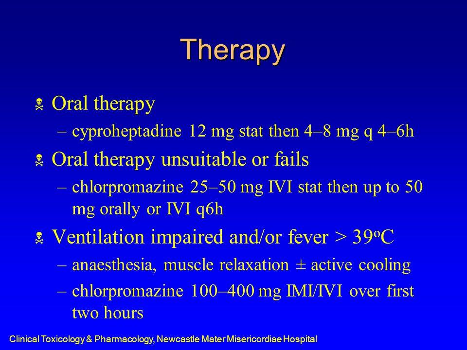 Therapy Oral therapy Oral therapy unsuitable or fails
