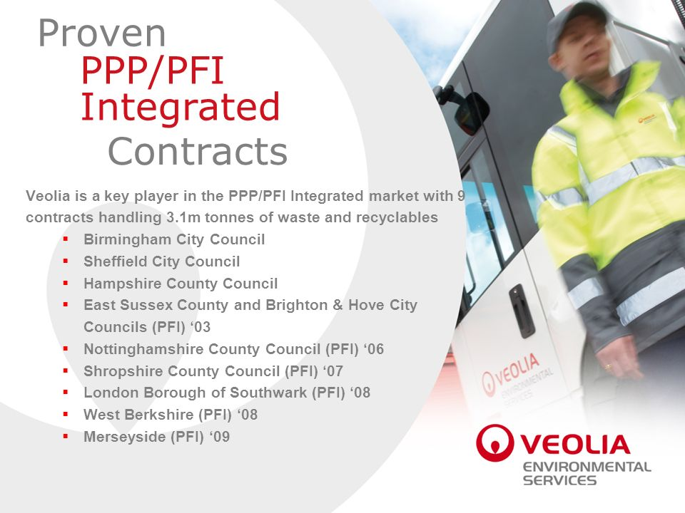 Proven PPP/PFI Integrated Contracts
