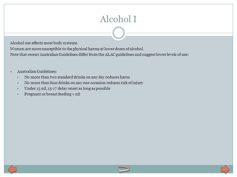 Alcohol I Alcohol use affects most body systems.