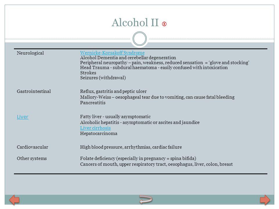 Alcohol II  Neurological Wernicke-Korsakoff'Syndrome